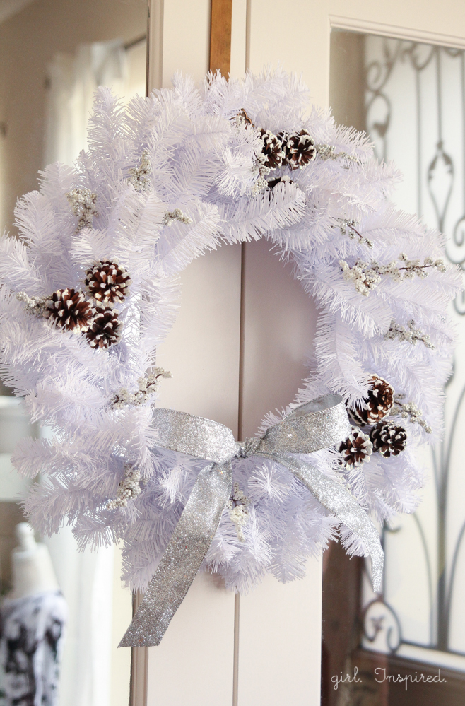 Sparkly and White Winter Wreath