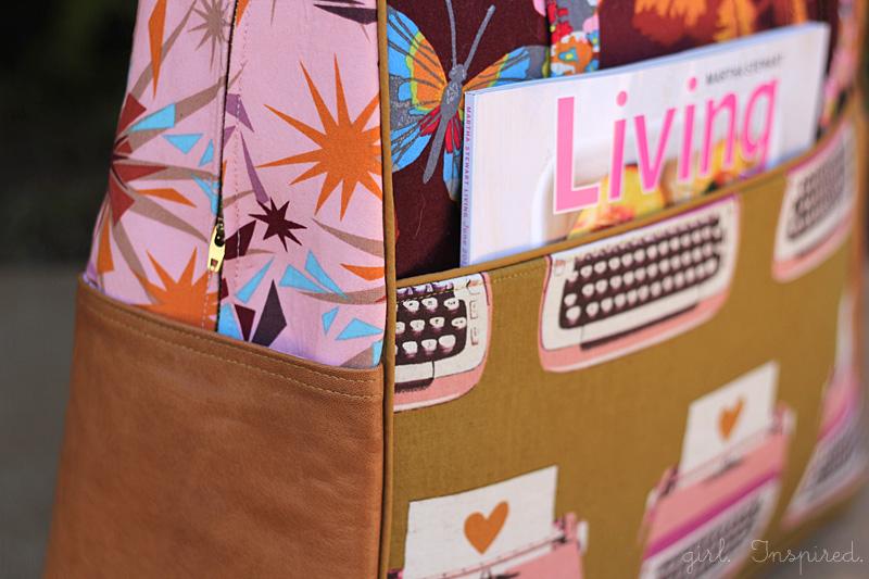 Piping Detail on Weekender Bag