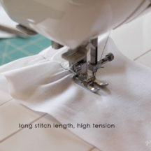 Learn how to sew a ruffle!