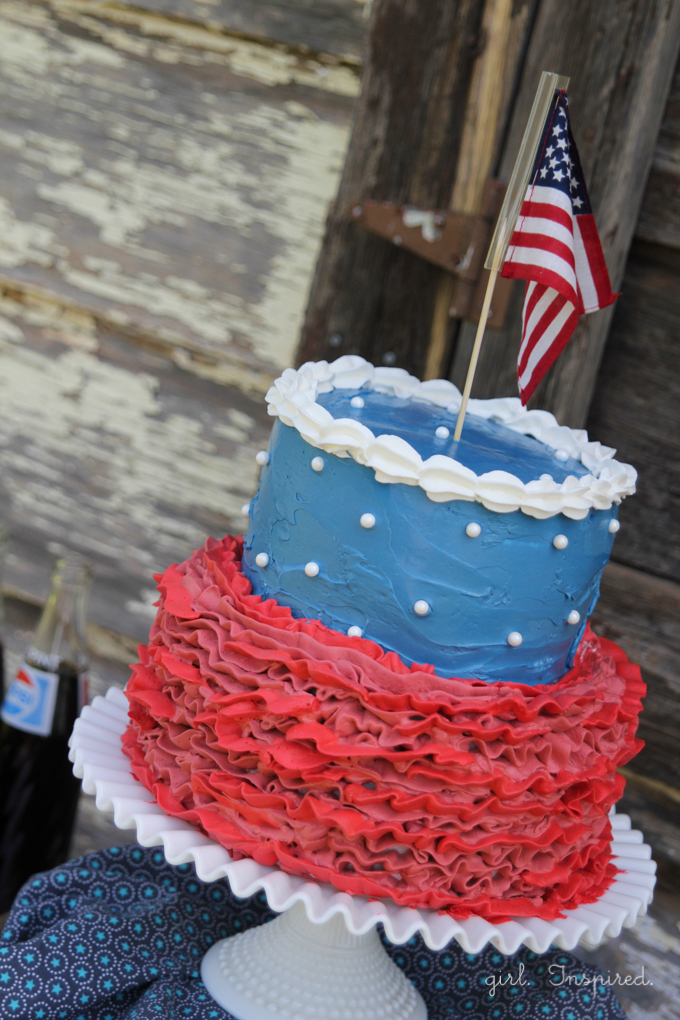 Cool cake for 4th of July!