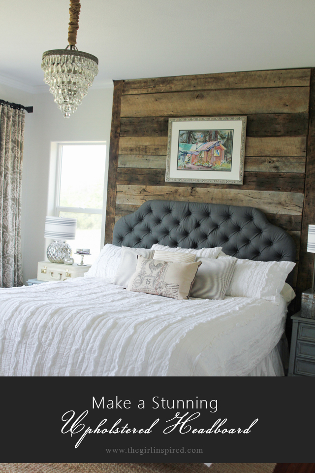 Stunning Upholstered Headboard - step by step tutorial