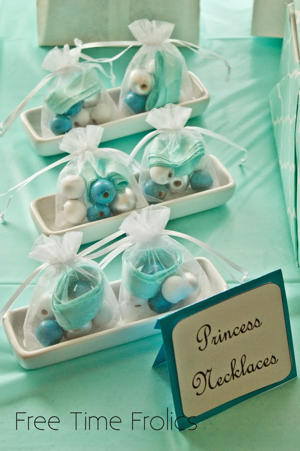 Elsa and Anna Bead Necklaces for Party Favors