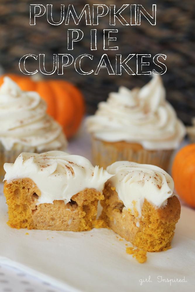 Pumpkin Pie Cupcakes and other pumpkin recipes!