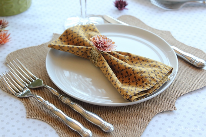 Burlap Table Numbers and Placemats
