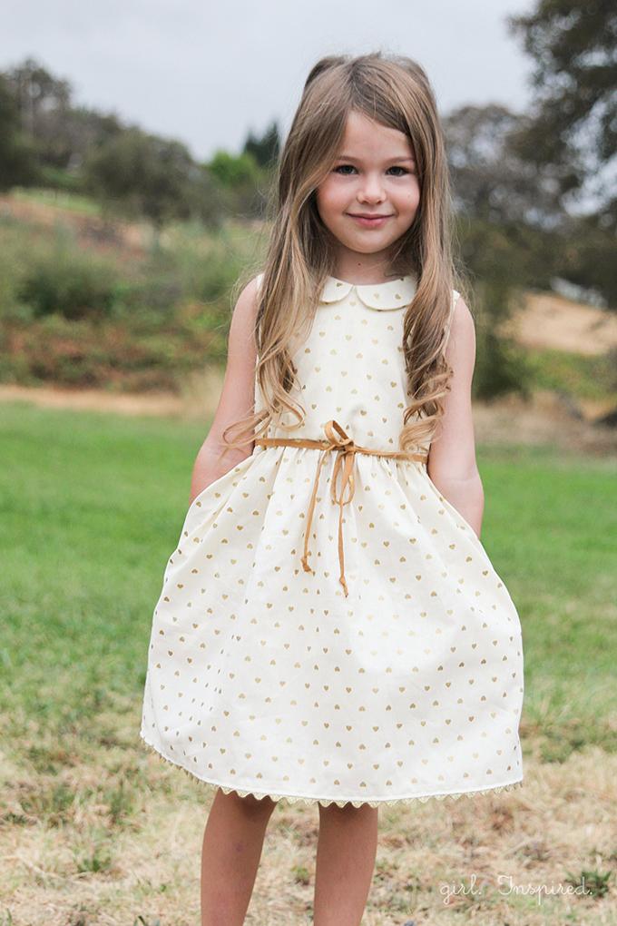 Gold Hearts Dress