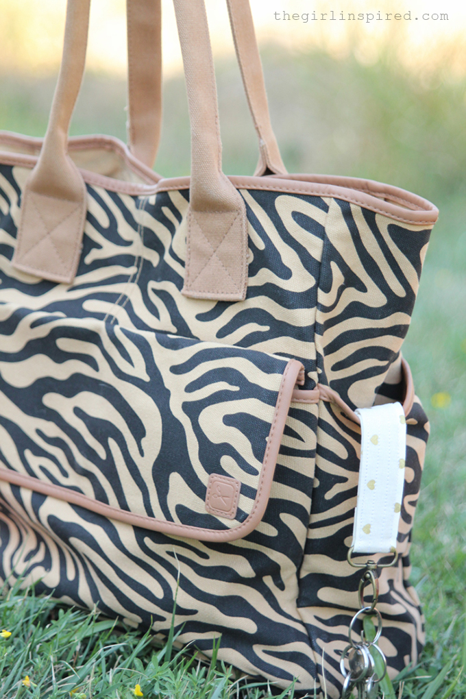 Tote with Fabric Keychain