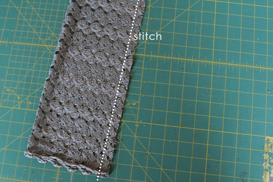 Make this Easy Lace Scarf in 15 MInutes!