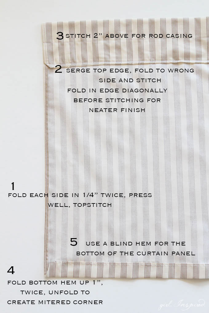 Simple Curtains Sewing Tutorial - an easy way to sew your own drapes!