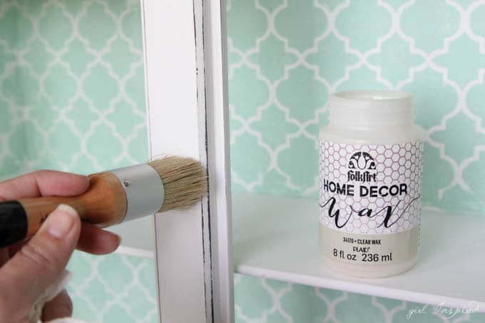 Stenciled Desk Upcycle