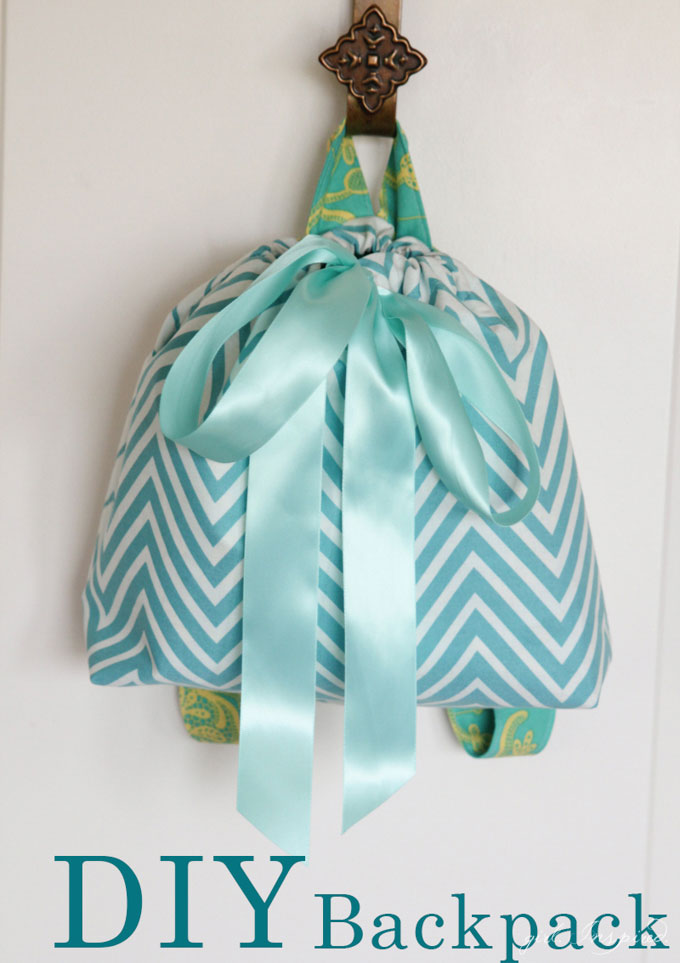 DIY Backpack Tutorial - what a fun project to make for little ones!  The perfect size to tote a snack and a book to the beach or pool!