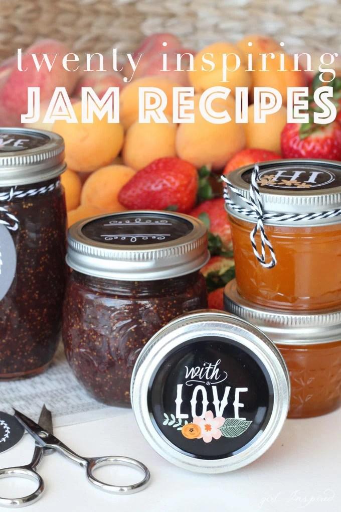 A roundup of twenty seriously inspiring Jam Recipes!