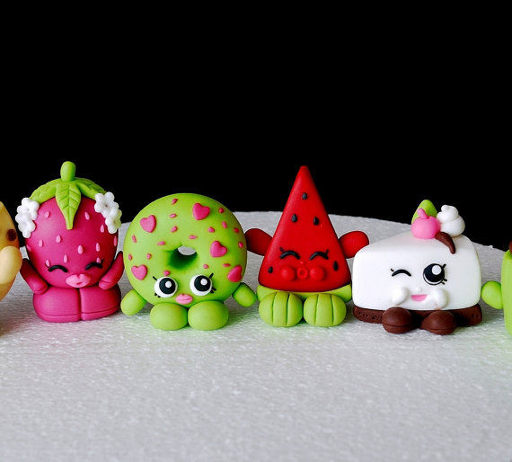 Shopkins Fondant Cake Toppers plus tons of other Shopkins birthday party ideas