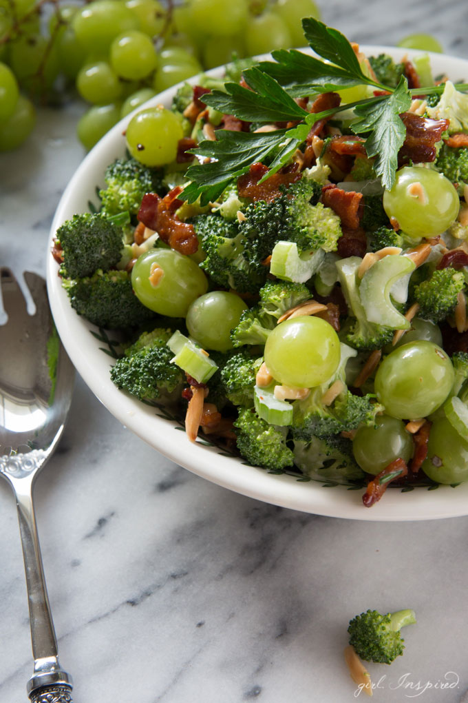 Broccoli Grape Salad - this version is light and creamy and the absolute best broccoli salad out there!