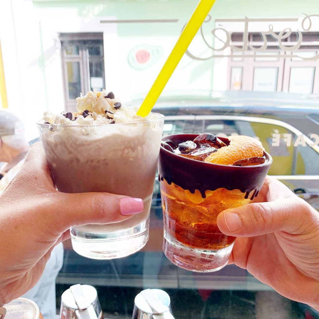 Cocktails from the Chocobar Cortez in Old San Juan, Puerto Rico