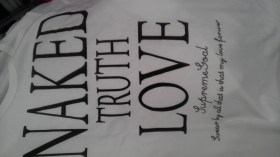 Funny text on t-shirt