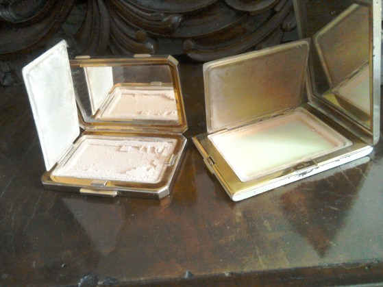 Vintage powder compacts