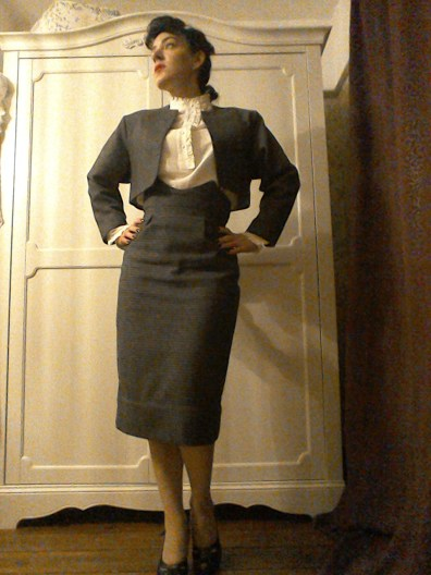 Eighties does Forties skirt suit