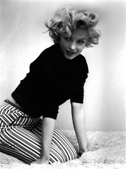 Marilyn in striped pedal pushers