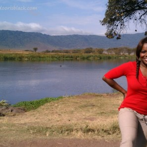 Keisha at Ngorogoro Crater Tanzania Safari | The Girl Next Door is Black