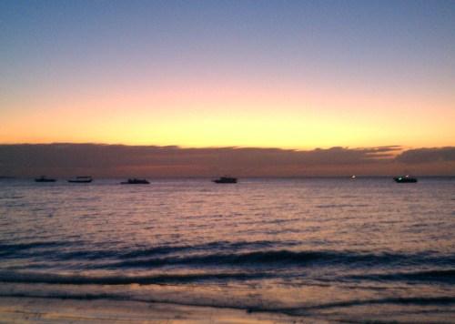 Sunset on the West Coast of Nungwi Zanzibar Beach   The Girl Next Door is Black