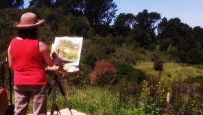 At the entrance to Tilden, we spotted several painters using the view as inspiration. One woman even brought a pet bird with her.