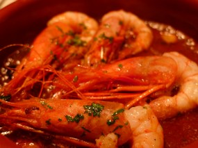 Gambas con al ajillo or prawns with fresh garlic. These were served sizzling and very well seasoned. The shells were crispy and soaked in the flavor of the sauce. Mm mmm.