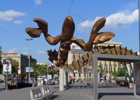 Giant, fiberglass lobster by Javier Mariscal.