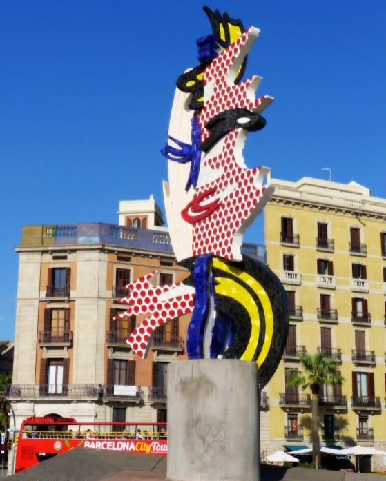 """A Lichtenstein sculpture, Cap de Barcelona aka """"The Head"""""""