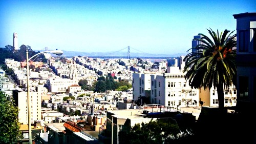 view of the City from Lombard