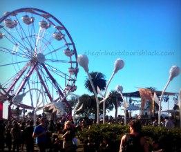 Ferris Wheel at Treasure Island Music Festival 2014   The Girl Next Door is Black