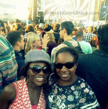 Friends at Treasure Island Music Festival 2014   The Girl Next Door is Black