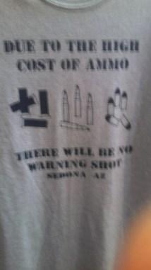 Ammo TShirt Sedona Shopping