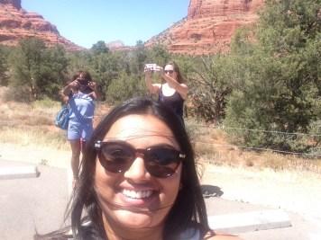 friends selfie Sedona