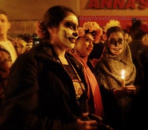 Freida Kahlo, Girls at Dia de los Muertos San Francisco 2014 | The Girl Next Door is Black