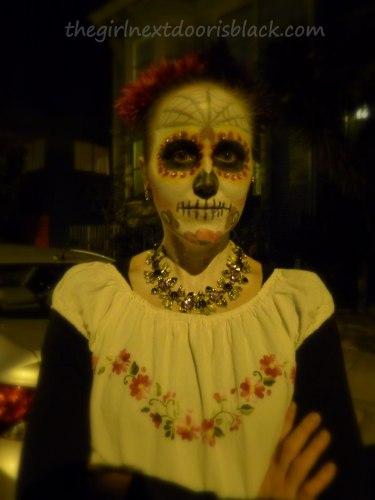 Sugar Skull Makeup Day of the Dead   The Girl Next Door is Black