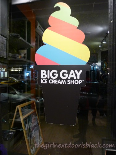 Big Gay Ice Cream Shop Rainbow Cone   The Girl Next Door is Black