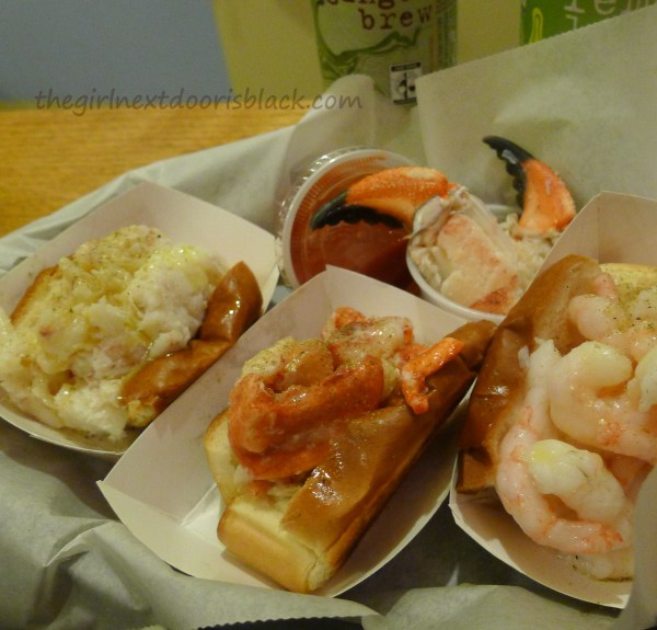 Crab Lobster and Shrimp Rolls at Luke's Lobster | The Girl Next Door is Black