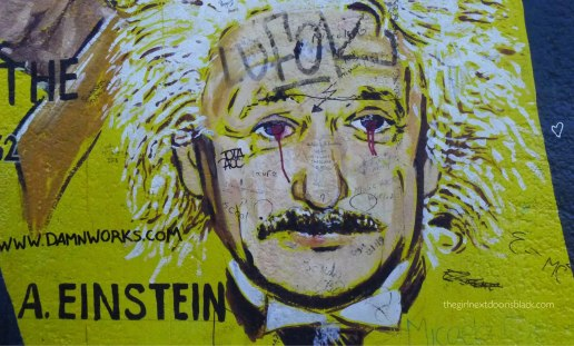 Albert Einstein Berlin Wall