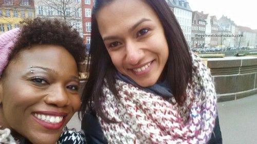 Friends Selfie in Copenhagen | The Girl Next Door is Black