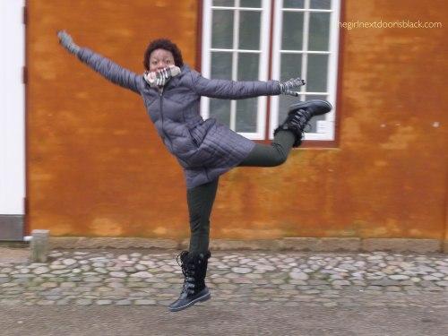 keisha jumps in Helsingør Denmark