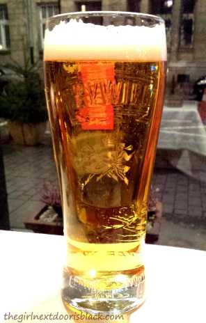 Żywiec Lager Stein Glass | The Girl Next Door is Black