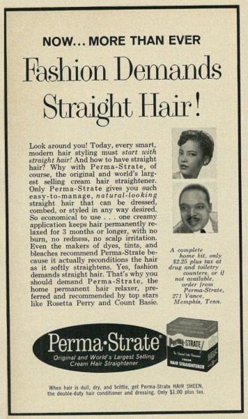 Perma-Strate Hair Relaxer Creme Advertisement | The Girl Next Door is Black