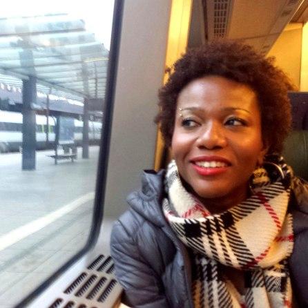 Keisha on Train in Copenhagen   The Girl Next Door is Black