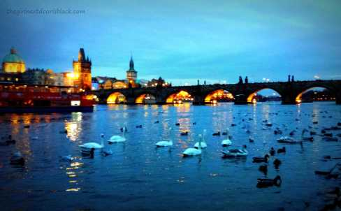 Charles Bridge at Night Prague | The Girl Next Door is Black