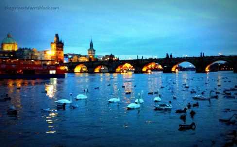 Charles Bridge at Night Prague | The Girl Next Door is Black