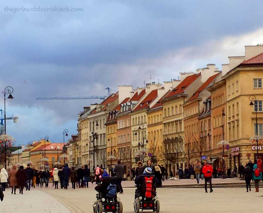 Old Town Market Place Warsaw Poland   The Girl Next Door is Black