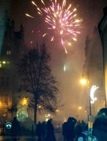 NYE 2015 in Prague Fireworks   The Girl Next Door is Black