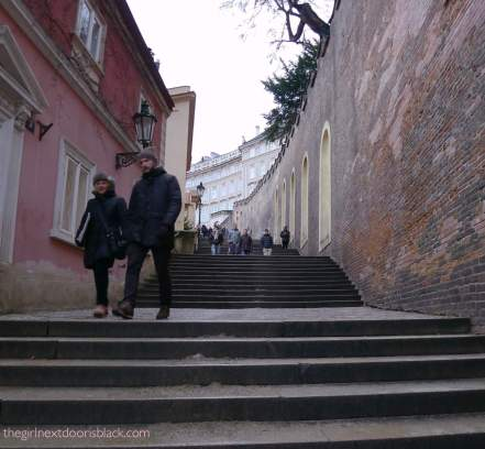 Steps to Prague Castle | The Girl Next Door is Black