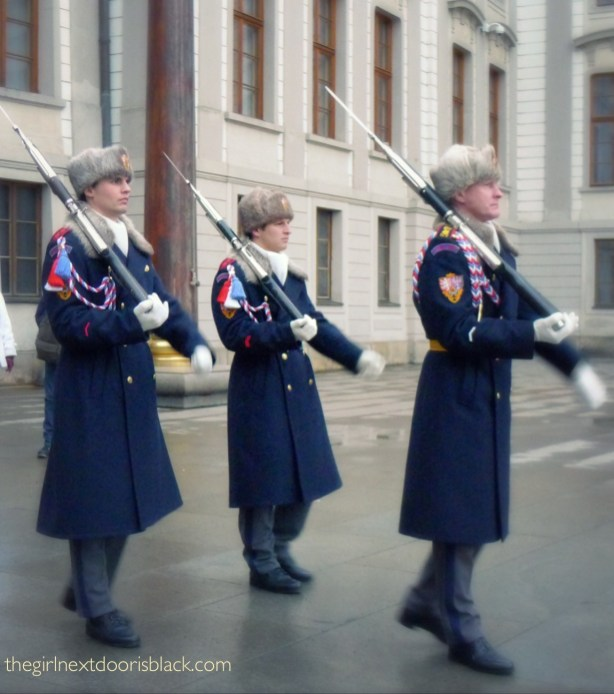 Marching of the Guards Prague Castle | The Girl Next Door is Black
