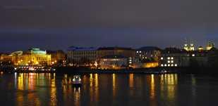 Night View from Charles Bridge Prague | The Girl Next Door is Black
